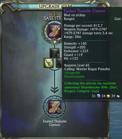 Exalted Thalasite Cannon Upgrade