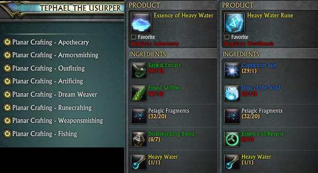 Planar Crafting Weekly Runecrafter Apothecary
