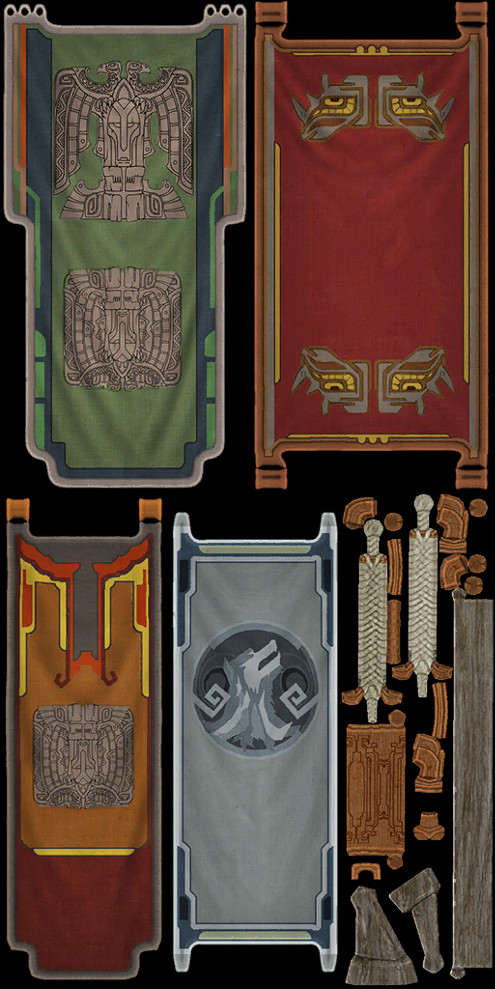 Planetouched Wilds Flag Skins 1