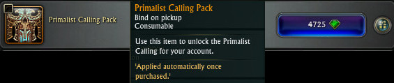 Primalist Calling Pack RIFT Store