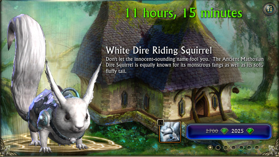 RIFT Limited Time Sale White Squirrel Mount