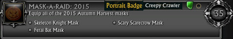 Autumn Harvest Mask-A-Raid 2015