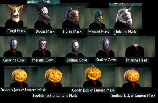 Autumn Harvest Past Masks Cowls Jack o' Lantern Masks