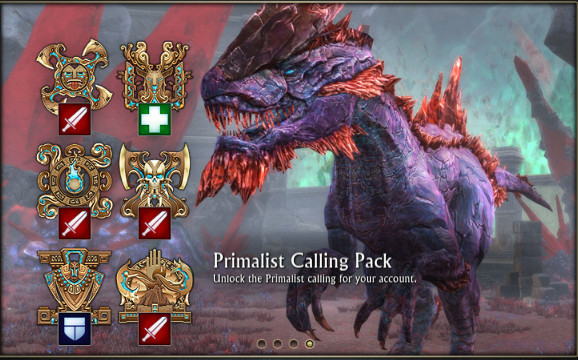 Primalist Calling Pack Welcome Window Message
