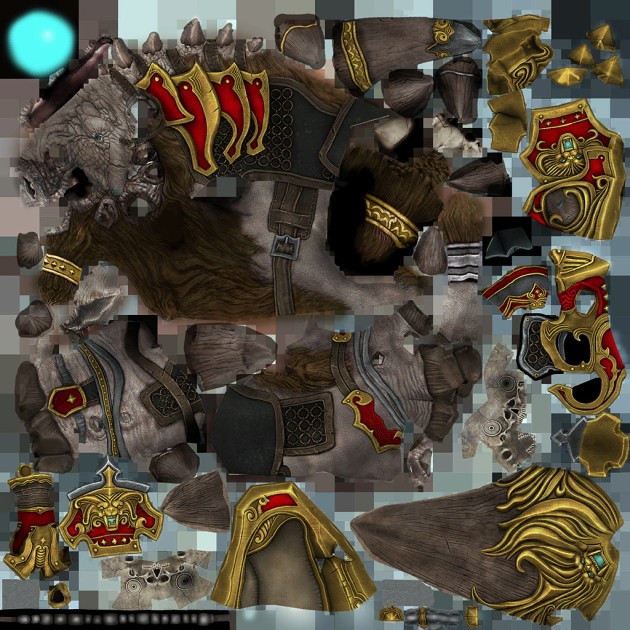 PTS Gold Armored Razorback Mount Skin
