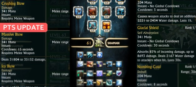 PTS Update Cleric Shaman Changes Feature Image