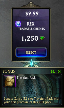 REX Promo Travelers Pack