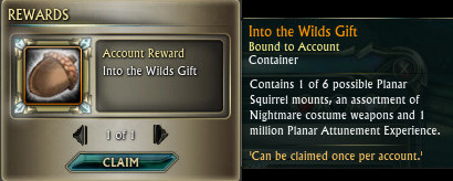 RIFT Into the Wilds Squirrel Pack Gift