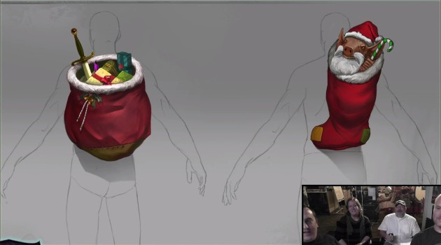 Livestream Summary Fae Yule 2015 Santa Backpacks Concept Art