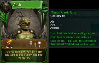 Minion Card Grish PTS