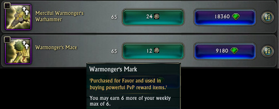 PTS Updat 19th Nov 3.5 Warmonger Weapon Store