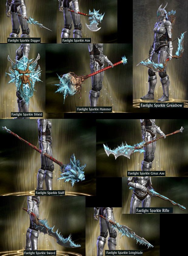 RIFT Fae Yule Faelight Sparkle Weapon Wardrobe PTS