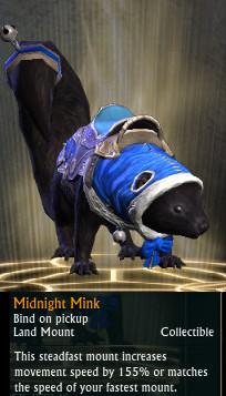 RIFT Fae Yule Midnight Mink Mount