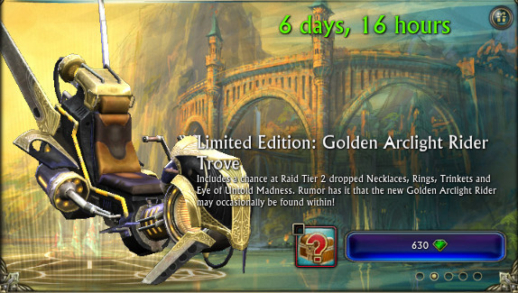RIFT Golden Arclight Rider Trove Store Image