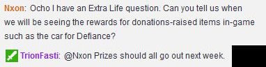 Trion Extra Life 2015 Fundraising Rewards Receipt Info