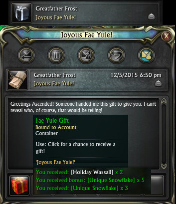 Fae Yule Farming Event Currency Joyous Fae Yule Mail