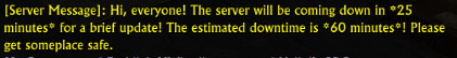 RIFT 3.5 Downtime Notice