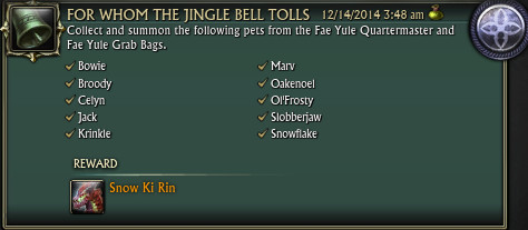 RIFT Fae Yule Achievements For Whom The Jingle Bell Tolls