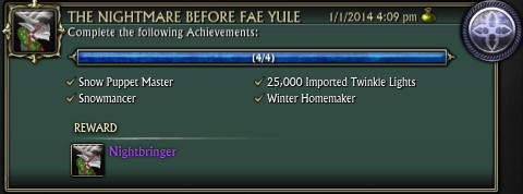 RIFT Fae Yule Achievements The Nightmare Before Fae Yule
