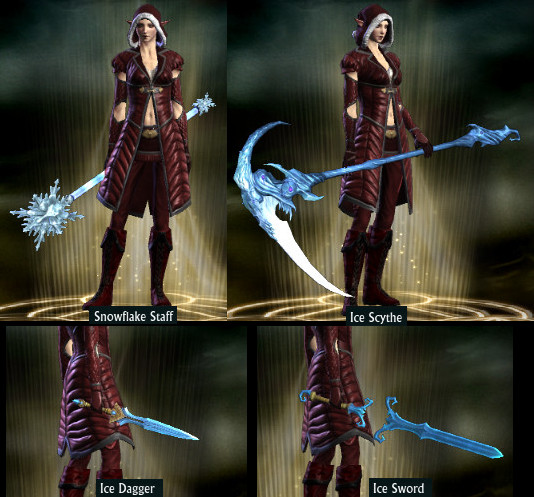 RIFT Fae Yule Store Ice Weapon Skins