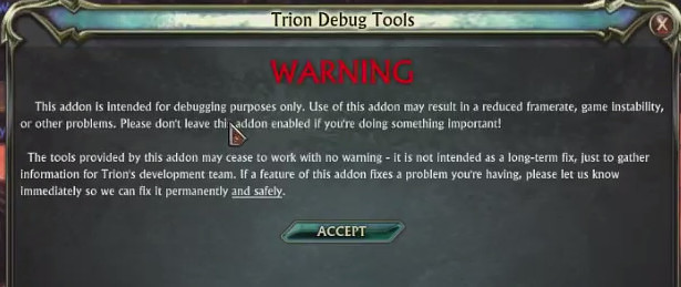 RIFT Trion Debug Tools Multicore Addon 1