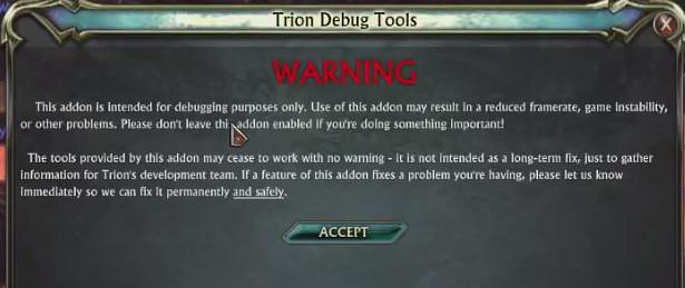 RIFT Trion Debug Tools Multicore Addon 1