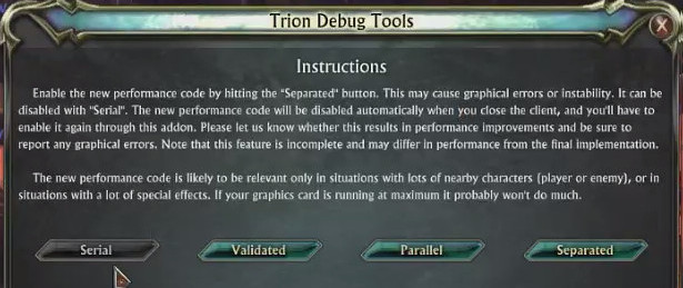 RIFT Trion Debug Tools Multicore Addon 2